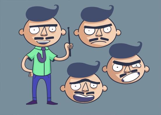 Estudo de expressões para Aderbal