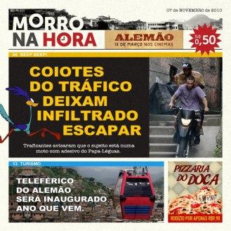 Morro na Hora, jornal fictício que dava notícias sobre o contexto do filme, paródia do famoso Meia Hora.