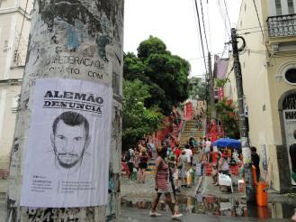 Cartazes no centro do Rio